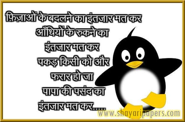 funny flirt shayari sms hindi