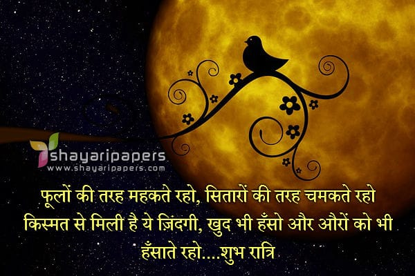 inspirational good night shayari pictures