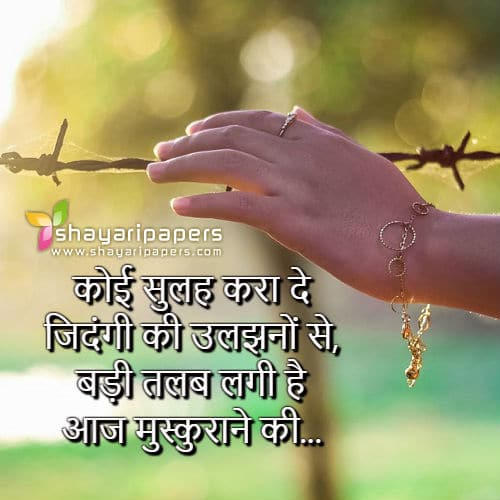 Zindagi Ki Uljhane Shayari Picture Wallpaper Whatsapp Facebook